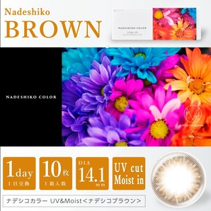 ナデシコカラー UV & MOIST 10枚 ナデシコブラウン
